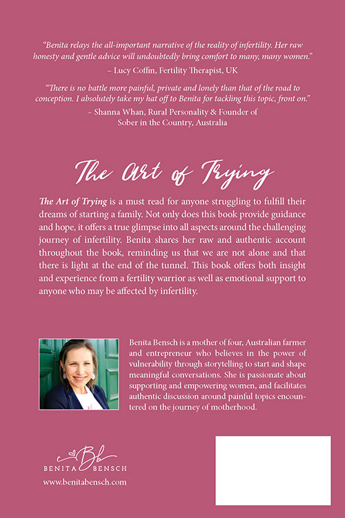 The Art of Trying - back cover
